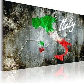 Tablou - Artistic map of Italy 60x40 cm