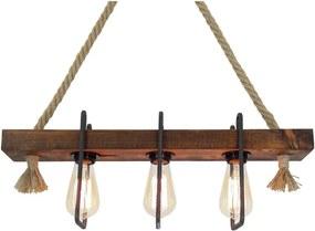 Lustră din lemn Demir, 3 becuri