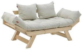 Canapea Outdoor 2 persoane, lemn si textil 160 cm