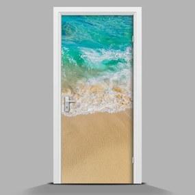 Autocolant de uşă Pe plajă