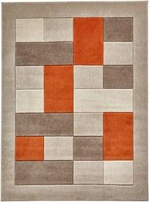 Covor Think Rugs Matrix , 60 x 120 cm, portocaliu - gri
