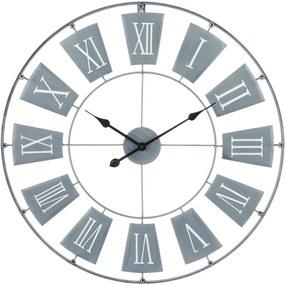 Ceas de perete,Emako, Metal, Diametru 76 cm, Gri