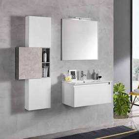 Set mobilier baie Perth White Concrete 8 piese