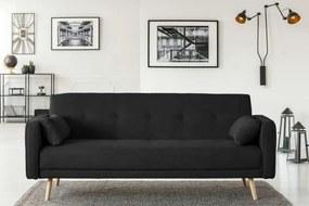 Canapea extensibilă Stuttgart, 3 locuri, negru, 212x93x85 cm