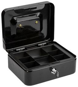 Organizator bani cu incuietoare (mini seif) Negru 20x16x9 cm