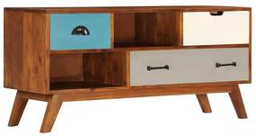 247936 vidaXL Comodă TV cu 3 sertare, 110x35x50 cm, lemn masiv acacia