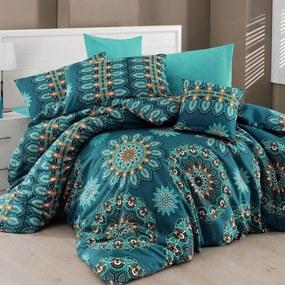 Lenjerie de pat cu cearșaf pentru pat dublu Nazenin Home Hula, 160 x 220 cm