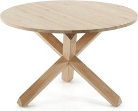 Masă din lemn de stejar La Forma Nori, ø 120 cm
