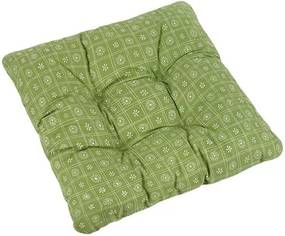 Pernă scaun Adela Pătrate verde, 40 x 40 cm