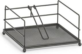 Suport șervețele metalic negru 17,3x17,3x9 cm, ZELLER