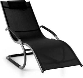 Blumfeldt Sunwave Gartenliege punte leagăn șezlong Relax taupe negru