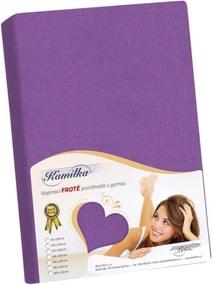 Cearşaf din bumbac fin Kamilka, violet închis, 200 x 220 cm, 200 x 220 cm