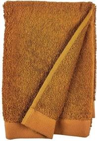 Prosop din bumbac froté Södahl Clay, 100 x 50 cm, portocaliu