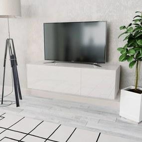 244870 vidaXL Comodă TV, PAL 120 x 40 x 34 cm Alb foarte lucios