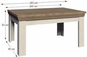 Masă extensibilă pentru dining, pin nordic/stejar sălbatic, ROYAL ST