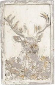 Tablou din ceramica bej antichizat 45 cm x 8 cm x 70 h