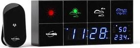 Inovalley Innovalley SM500, stație meteo, ceas cu alarmă, termometru, higrometru, oglindă