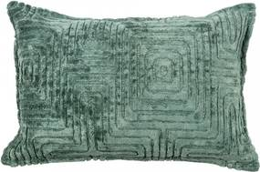 Perna decorativa dreptunghiulara verde din viscoza si bumbac 40x60 cm Ezra Ocean Woood