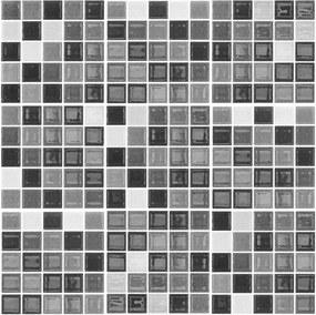 Set 9 autocolante de perete Ambiance Shade of Grey, 15 x 15 cm