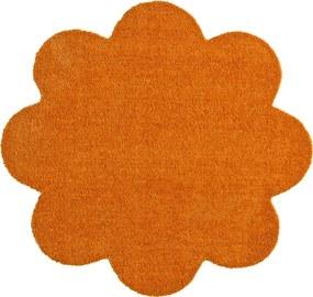 Covoras Intrare Soft & Clean, Floare, Portocaliu, 67x67