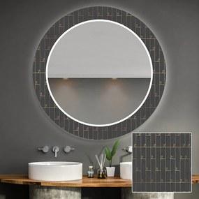 Oglindă decorativă rotundă cu iluminare LED pentru Baie