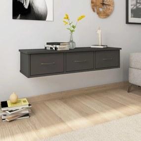 800596 vidaXL Dulap de perete cu sertare, gri, 90x26x18,5 cm, PAL