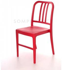 Scaun din plastic Luca Red, l50xA44xH80 cm