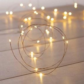Ghirlanda luminoasă cu LED DecoKing Simple, lungime 5,3 m, argintiu