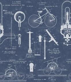 MINDTHEGAP Tapet - Patents Blue