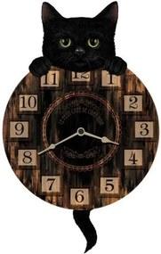 Ceas de perete cu pendul Pisi Tic