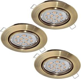 Eglo 94409 - SET 3x Corp de iluminat LED tavan fals PENETO 3xGU10-LED/5W/230V