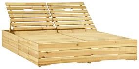 315404 vidaXL Șezlong de grădină dublu, lemn de pin tratat verde