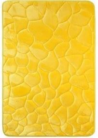 Covoraș de baie, cu spună cu memorie, Pietre, galben, 50 x 80 cm, 50 x 80 cm