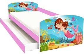 Pat copii cu sertar Sirena 144x75