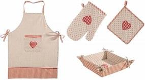 Set textile bucatarie, 4 piese, Anna Rosu / Bej