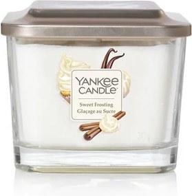Yankee Candle lumanare alba parfumata Elevation Sweet Frosting pătrata mijlocie 3 fitile