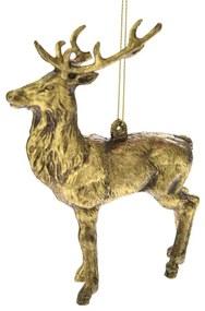 Set 2 ornamente brad Ren auriu antichizat