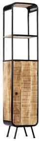 247857 vidaXL Dulap înalt, 40 x 30 x 180 cm, lemn masiv de mango nefinisat