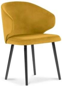 Scaun cu tapițerie de catifea Windsor & Co Sofas Nemesis, galben