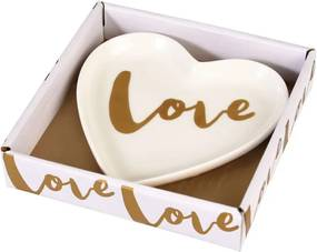 Farfurie decorativă din porțelan Rex London Love Heart