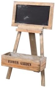 Suport flori din lemn cu tablita Garden