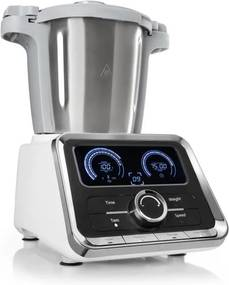 Klarstein GRANDPRIX, robot de bucătărie, 500W / 1000 W, 2.5 L, vas de amestecare din oțel inoxidabil, culoare albă