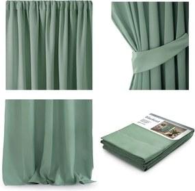 Draperie AmeliaHome Pleat, 140 x 270 cm, verde
