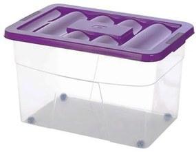 Cutie depozitare cu roti 60x40x37 cm, 60L Plastic