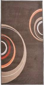 Covor Circles maro 80x150 cm