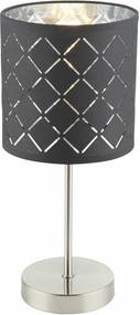 Veioza Clarke, metal/textil, 15 x 35 cm