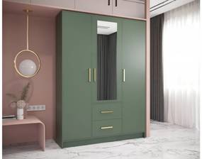 Expedo Dulap dormitor MULER 153, 153x202x40, verde
