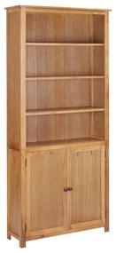 289178 vidaXL Bibliotecă cu 2 uși, 90 x 30 x 200 cm, lemn masiv stejar