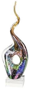 Decoratiune TWIST, sticla, 48x16x10 cm