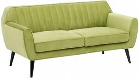 Canapea verde din catifea pentru 2 persoane Single Ixia